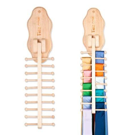 Wooden Tie Rack Wall Mount by Wall Mounted Flip Wooden Tie Rack Findgift