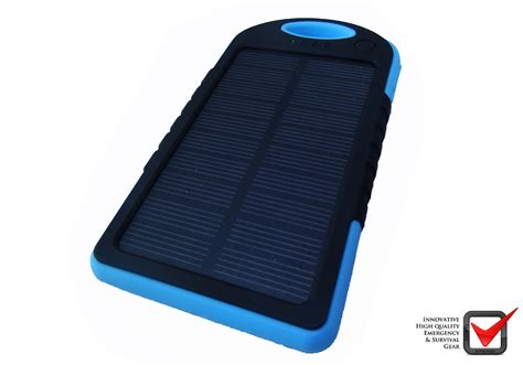 Power Bank Solar solar panel power bank blue isurvive 174 cing store