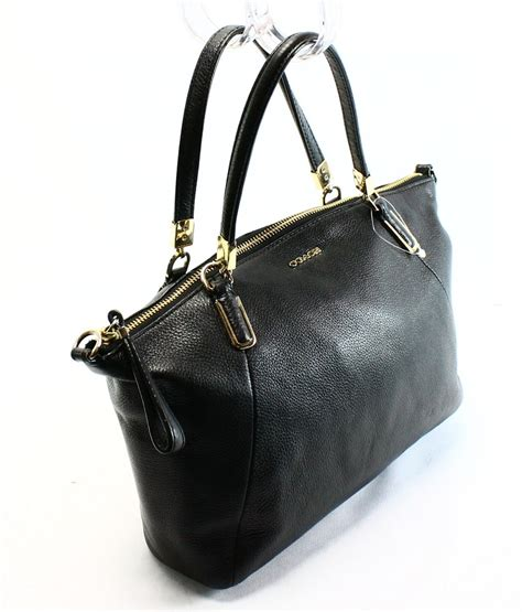 Tas Coach Kelsey Black coach black pebble leather small solid kelsey crossbody bag purse 258 7 ebay