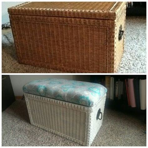 wicker bed bench wicker chest turned into end of bed bench with storage i