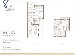 mira floorplans by emaar