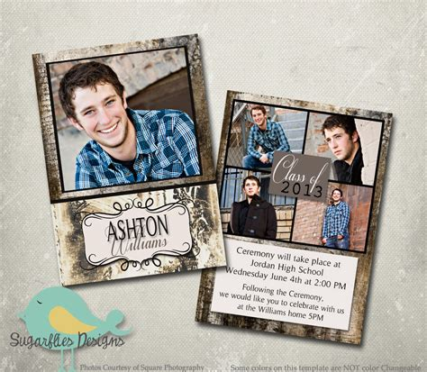 senior templates for photoshop free graduation announcement photoshop template senior graduation
