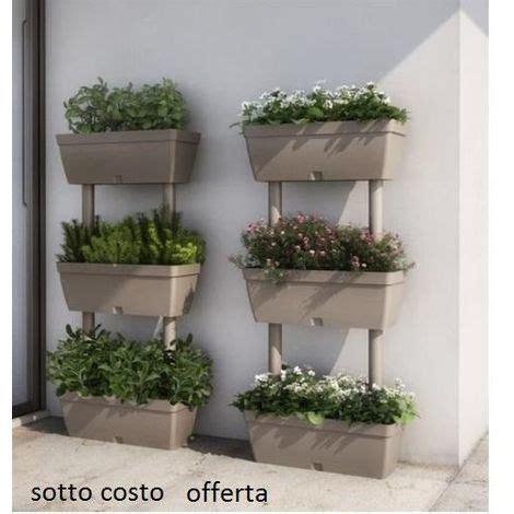 vasi da orto fioriera verticale kit 3 vasi orto componibile 50 x 17 x h