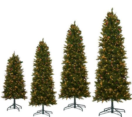 bethlehem lights canterbury slim christmas tree qvc com