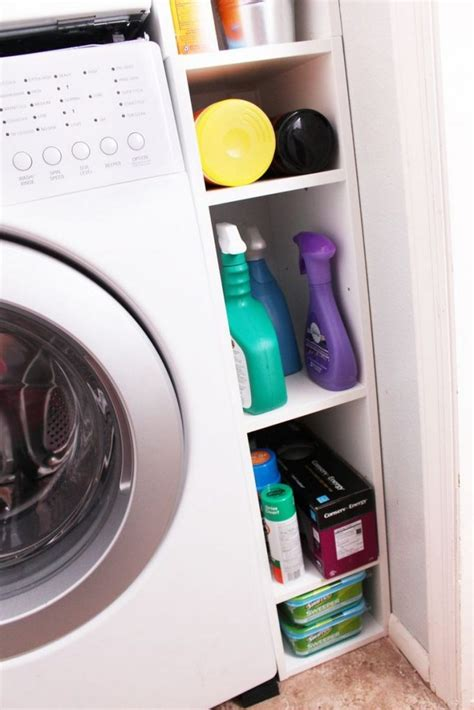 Laundry Room Storage Between Washer And Dryer Clever Laundry Room Storage Solutions The Owner Builder Network