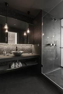 Superbe Luminaire Encastrable Salle De Bain #2: salle-de-bain-en-gris-fonc%C3%A9-spot-led-encastrable-salle-de-bain-noire.jpg