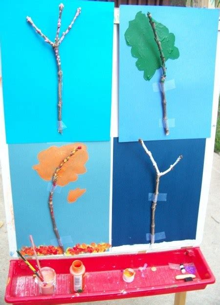 painting trees   seasons lesson plans