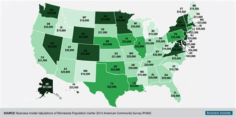 how much are ls millennial median wage map business insider