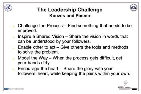kouzes posner the leadership challenge da202 departmental administrator leadership skills