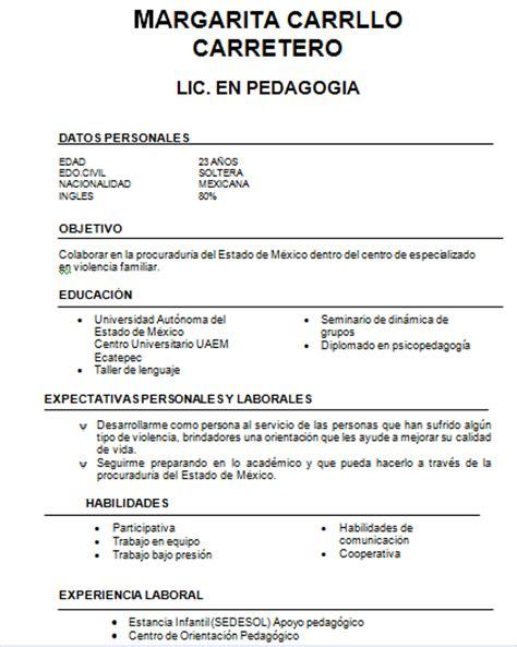 Modelo Curriculum Trabajador Social Procuraduria General De Justicia Estado De M 201 Xico Especializada En Violencia Familiar Curr 205 Culo
