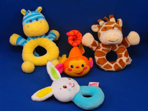 Baby Grow Baby Rattle Rattle Donat Tla lot of 4 small baby toys giraffe zebra rabbit monkey
