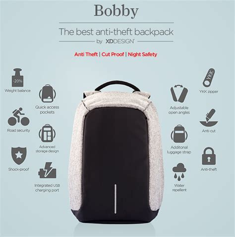 Original Emory Smart Backpack Tas Anti Maling bobby the best anti theft backpack