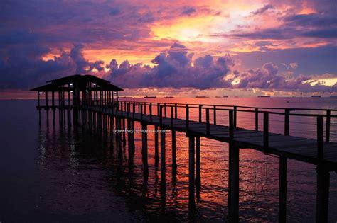 beautiful sunset view  sipitang esplanade sabah
