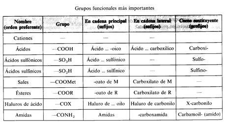 cadenas carbonadas de amidas grupos funcionales m 225 s importantes conchus