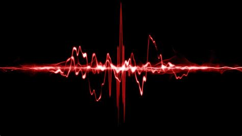 sound wave red sound waves wallpaper 1023722