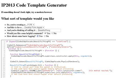 siebel siebel open ui code template generator
