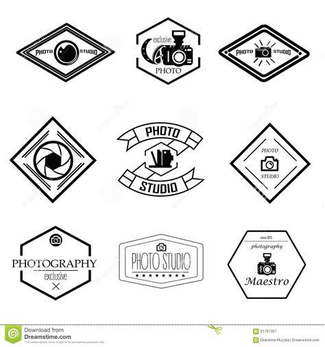 design studio logo vector templates vector set of photography and logo templates stock vector