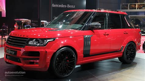 red land rover shanghai 2015 startech range rover pickup is red and