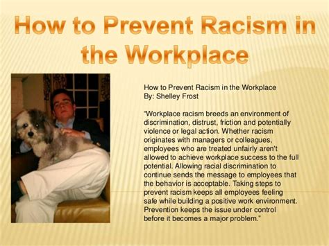 how to prevent racism in workplaces