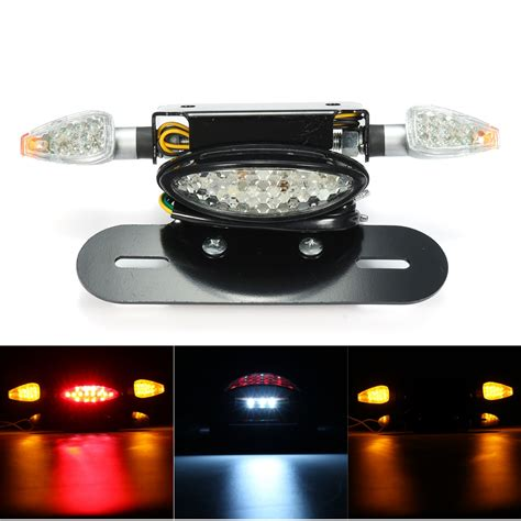 Motorcycle Led Rear Tail Brake Stop Turn Indicator Light Led Brake Light Motorcycle