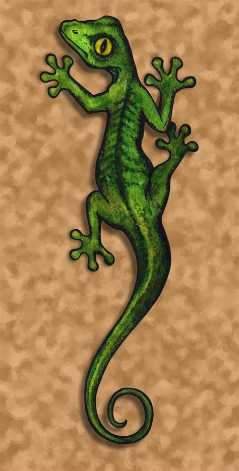 gecko tattoo design by pixel slinger on deviantart