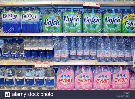 Shelf Bottled Water by Bottled Water On A Shelf In A Supermarket In Stock