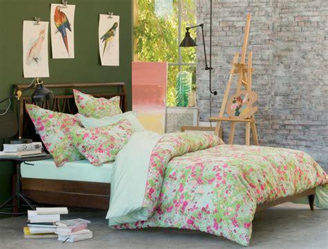 linge de lit fleurs des chs linvosges