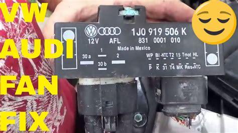 vwaudi fan relay cooling fan control unit module relay youtube