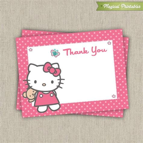 printable birthday cards hello kitty 17 best images about audrey s hello kitty 4th birthday on