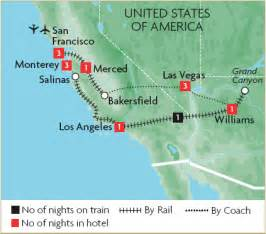 west coast usa escorted tours great rail journeys