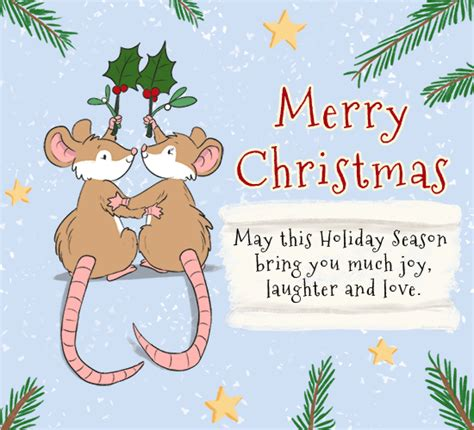 mistletoe mice  merry christmas wishes ecards greeting cards
