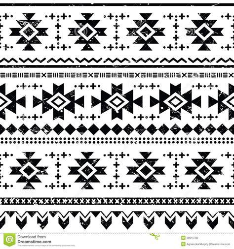 aztec tribal pattern vector tribal aztec retro seamless pattern stock illustration