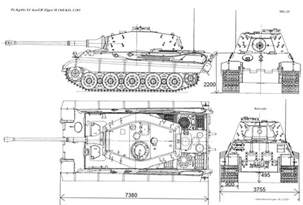 draw blueprints panzer vi ausf b k 246 nigstiger 1944