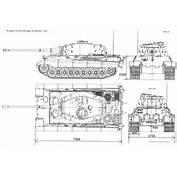 Tiger II Blueprint  Download Free For 3D Modeling