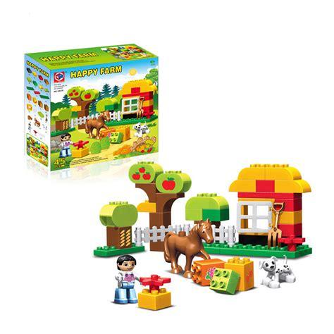 alibaba lego 45pcs large size happy animals farm building blocks sets