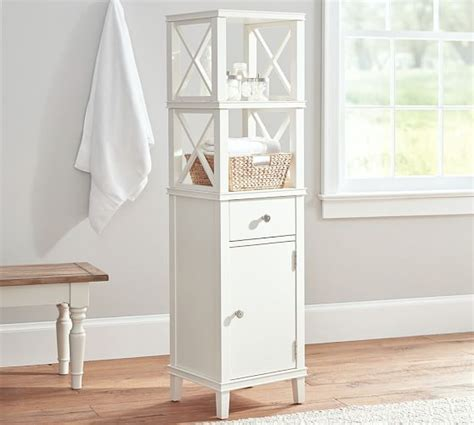 pottery barn bathroom storage clara bath storage pottery barn