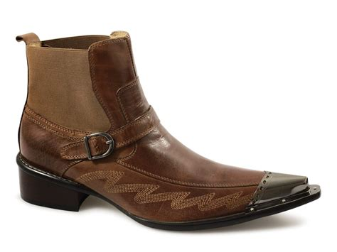 gucinari mens leather western fancy dress ankle