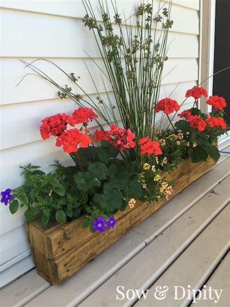 Hanging Trough Planters by Pallet Trough Planter Gardens Planters And Hanging