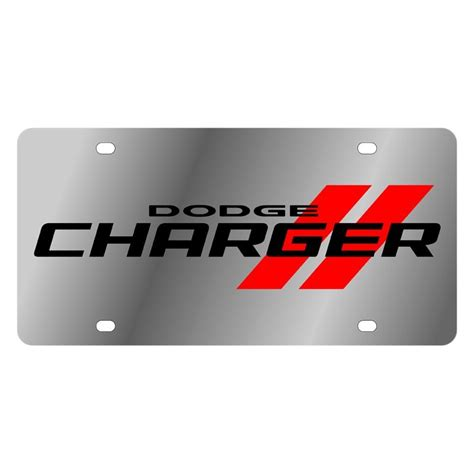 logo dodge charger eurosport daytona 174 1473n 1 mopar polished license plate