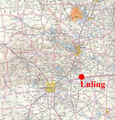 where is luling texas on a map luling texas