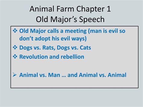 animal farm powerpoint intro ppt animal farm chapter 1 old major s speech powerpoint presentation id 2448590