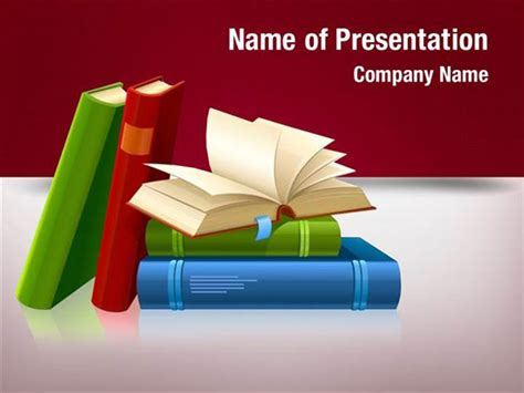 library powerpoint template library book powerpoint templates library book