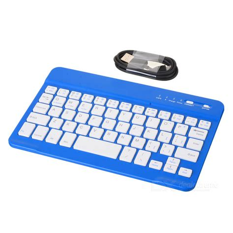 blue keyboards for android mini ultra thin bt v2 0 59 key keyboard for android blue white free shipping dealextreme