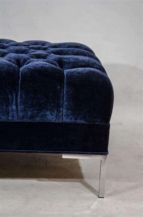 tufted velvet bench tufted velvet bench or coffee table for sale at 1stdibs