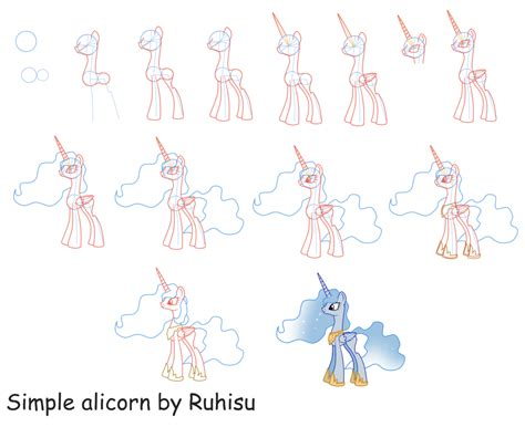 how to draw an alicorn princess from my little pony how to draw an alicorn by ruhisu on deviantart