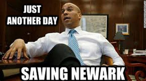 Cory Booker Meme - cory booker says he and president obama are cool after