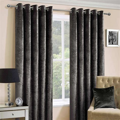 heavy weight curtains luxury crushed velvet lined heavy weight eyelet curtains