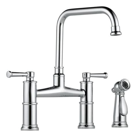 bridge kitchen faucet with side spray faucet com 62525lf pc in chrome by brizo