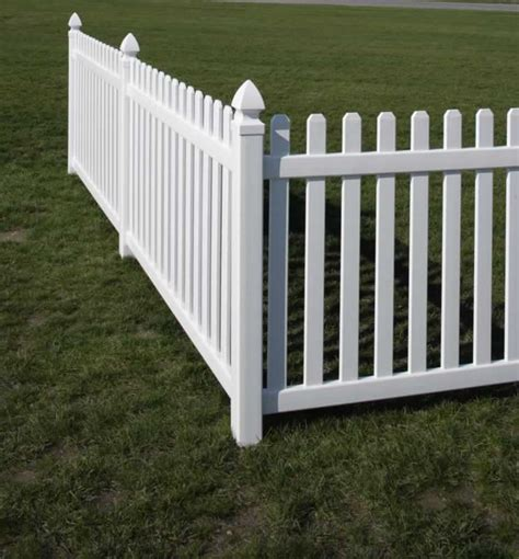 picket fences rothbury vinyl picket fence straight avinylfence com