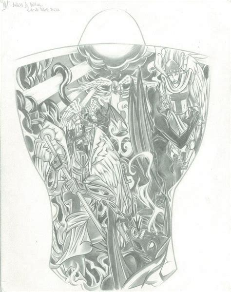 angel and demon tattoo drawings angel vs demon tattoo design photo 1 надо попробовать